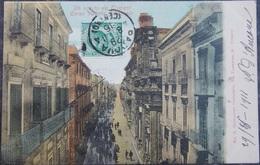 ITALY ITALIA Cartolina 1911 TRAPANI Corso Vittorio Emanuele - Sicilia - Trapani