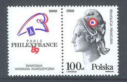 POLOGNE 1989 - Marianne, Bicentenaire De La Révolution Française - 2 Val Neuf // Mnh - Franz. Revolution