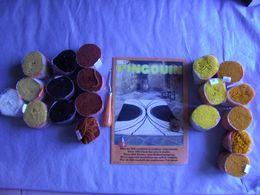 Lot De  Fil Pour Tapisserie - Paquets De Laine Pour Tapis Noué (voir Detail)+crochet+livre -vintage - Laine