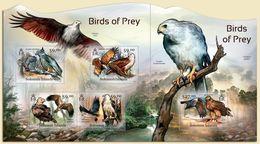 Salomon 2012, Animals, Birds Of Prey Eagle, 4val In BF +BF - Marine Web-footed Birds