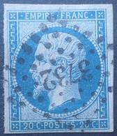 R1286/184 - NAPOLEON III N°14A - PC 3732 (BUREAU SUPPLEMENTAIRE) ➤➤➤ ORAN (ORAN / ALGERIE) - 1853-1860 Napoléon III