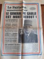 LE PARISIEN LIBERE -  11 NOVEMBRE 1970  -  MORT DU GENERAL DE GAULLE  - - 1950 - Nu