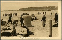 HELGOLAND Ca. 1915/20, KUPFERDRUCK-PK, ABB. STRANDLEBEN AUD DER DÜNE, UNGELAUFEN - Helgoland