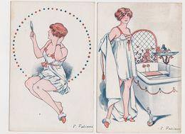 2 Cpa  Signées Fabiano / Pour être Belle  .Jeune Femme à Sa Toilette - Fabiano