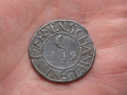 1749 Superintendenten C.149 - ARMEN SCHAMELEN HUYS MECHELEN ( 14,7 Gr. / 33 Mm./ Voir Scan )Lood ! - Bélgica