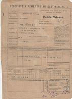 1728 RÉCÉPISSÉ CHEMINS DE FER DU MIDI  PETITE VITESSE Bordeaux St Jean 33   Fleurance  32 GERS - Biglietti Di Trasporto