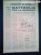 FASCISMO - CORRIERE DI ROMA N° 93 -  6 SETTEMBRE 1944 - BATTAGLIA X LA GERMANIA - Guerre 1939-45