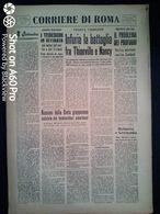 FASCISMO - CORRIERE DI ROMA N° 95 -  8 SETTEMBRE 1944 - I TEDESCHI IN RITIRATA - Guerre 1939-45