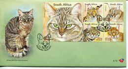 South Africa Südafrika Offizieller/official FDC # 8.13 - Fauna Cats - FDC