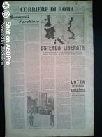 FASCISMO - CORRIERE DI ROMA N° 97 -  10 SETTEMBRE 1944 - OSTENDA LIBERATA - Guerre 1939-45