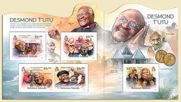 Salomon 2012, Peace Maker, Desmond Tutu, Dalai Lama, Gandhi, 4val In BF+BF IMPERFORATED - Buddhismus