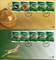 South Africa Südafrika Offizieller/official FDC # 8.20-21 - Rugby - FDC