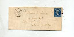 Lettre  Cachet Losange Cloyes Sur Napoleon  + Vendome - Marcophilie (Lettres)