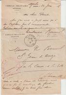 EAC 1918 Division D'occupation De Tunisie Cercle Militaire De Médenine O. Guerra - WW I