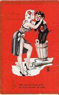 Krampus 34, Kleinformat - 9x14, Gruss Vom Krampus - Sehr Schöne Farbkarte, Postalisch Gelaufen! - Nus Adultes (< 1960)