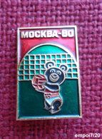 Broche (no Pin's )  MOSCOU 80 - VOLLEY-BALL - Mascotte  Ours MISHA - Volleybal