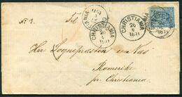1871 Norway 4 Skilling Lion Christiania Wrapper - Briefe U. Dokumente