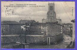 Carte Postale 42. St-Martin-en-Coailleux  La Croix De Mission  Très Beau Plan - Other Municipalities