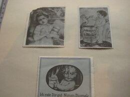 3 POSTER STAMPS Cinderella Advertising Vignettes Biomalz Engel Angel Ange Rudolf Schlepper ROSNER ART Reklame Marken - Erinnofilia