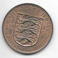 *jersey 1/12 Shilling 1957  Km 21   Xf+!!!!!! - Jersey