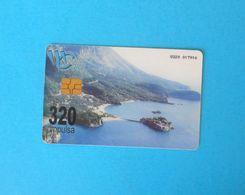 SVETI STEFAN (Budva) - Montenegro 320. Units Old Rare Chip Card * Landscape Paysage Beach Sea Sunset Crna Gora - Montenegro