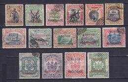 NORTH BORNEO 1901/05, SG# 127-143, Part Set, Animals, Ship, Birds, Used - Borneo Del Nord (...-1963)