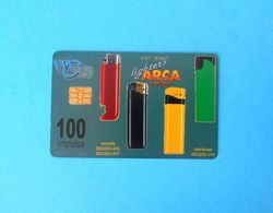 ARCA LIGHTERS ... Montenegro Old Rare Chip Card 50.000 Ex. Only * Lighter Beach Butterfly Papillon Mariposa Crna Gora - Montenegro