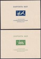 Danzig Daposta Briefmarkenausstellung 1937 Blöcke Jeweils Als Postkarte Mit - Danzig
