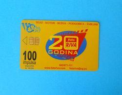 FOTO RIVA ... Montenegro Old And Rare Chip Card * Tivat Kotor Budva Podgorica Zabljak * Crna Gora - Montenegro
