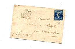 Lettre Cachet Losange Courtalain Sur Napoleon + Paris à Rennes + Mondoubleau - Marcophilie (Lettres)