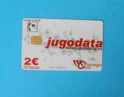 JUGODATA ... Montenegro Old Rare Chip Card * Compaq Computers Computer * Crna Gora - Montenegro