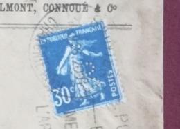 LETTRE 1926 - SAINTES Pour TESSON - Timbre Perforé - Semeuse 30c - Marcofilie (Brieven)