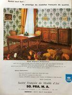 PUB 1973 Meubles SOFRAMA THIVIERS Dordogne 24 - Publicités