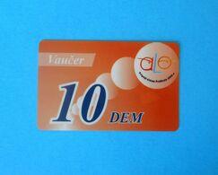 10 DEM ... Montenegro Very Old Issue Prepaid GSM Card * Prepaye Carte Recharge - Value In Old Deutschland Marks Vaucer - Montenegro