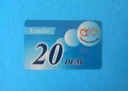 20 DEM ... Montenegro Very Old Issue Prepaid GSM Card * Prepaye Carte Recharge - Value In Old Deutschland Marks Vaucer - Montenegro