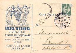 STOROJINET / BUCOVINA [ UKRAINE ] - PUBLICITÉ / ADVERTISING : SPIRT / VIN / BERE - BERL WEINER [ JUDAÏCA ] ~ 1930 (af101 - Rumania