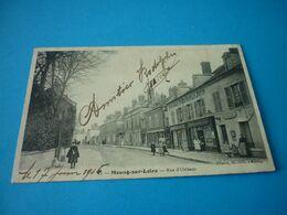 Carte Postale Loiret Meung Sur Loire Rue D'Orleans Animée - Sonstige Gemeinden
