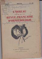 L'OISEAU Et La Revue Française D'Ornithologie, Volume III, N° 3 1933 - Animaux