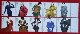 GREAT BRITISH FASHION Textiles (Mi 3253-3262) 2012 POSTFRIS MNH ** ENGLAND GRANDE-BRETAGNE GB GREAT BRITAIN - Unused Stamps