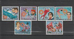 Guinée 1984 Vainqueurs JO Sarajevo 748-51 Et PA 168-69 6 Val Neuf ** MNH - Guinee (1958-...)