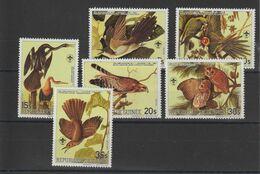 Guinée 1985 Oiseaux Audubon 764-67 Et PA 178-79 6 Val Neuf ** MNH - República De Guinea (1958-...)