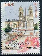 Yt 3529-1 Eglise Trinite Des Monts-cachet Rond - Usados