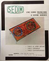 PUB 1973 Meubles Tables Céramique Sedim HALLUIN Nord 59 - Publicidad