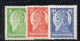 XP3188 - UNGHERIA HONGRIE 1928 , Yvert N. 417/419  *  Linguella - Nuovi