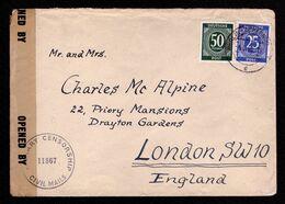 All.Bes. Ziffern - Auslandsbrief BERLIN-ZEHELNDORF - London-ENGLAND - 4.5.46 - Mi.926,932 - Zona Anglo-Americana