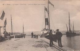 """56 GROIX     Le Vapeur """"Port-Tudy"""" Avant Son Départ Pour LORIENT            PLAN 1906 RARE - Groix"""