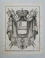 Ex-libris Héraldique Début XIXème - BELGIQUE - DE BETHUNE-HESDIGNEUL (Tournai) - Ex Libris