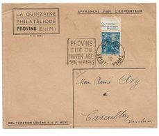(C05) - Y&T N°257 CARNET BANDE PUB QUINZAINE PHILATELIQUE PROVINS LETTRE 1929 DAGUIN - France
