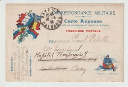COURRIER  MILITAIRE-  14-18 --  20° TERRITORIAL. -- HOPITAL  TEMPORAIRE    -- ECRITE 1916 - 1914-18