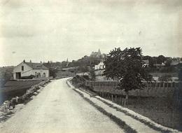 Photo Réelle 11x8cm - FRANCE 21 - FONTAINE-LÈS-DIJON - Entrée Du Village - 1907 - ARCHIVES LHUILLIER - Dijon